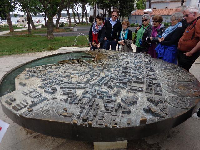 Maquete da cidade em miniatura.