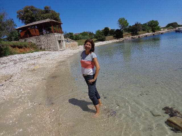 Uma das poucas praias com areia