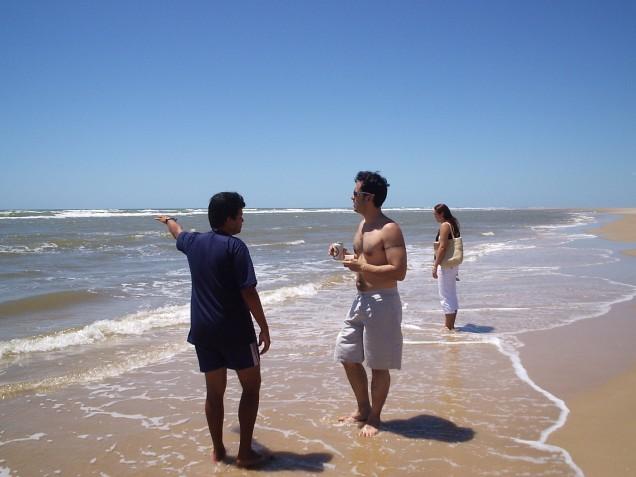 Oceano Atlântico, no litoral do Piauí.