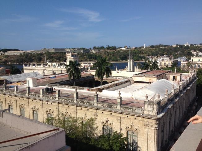 Vista da cobertura do hotel