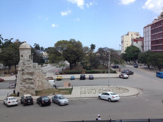 Vista da janela principal do museu da revolução.